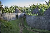 stock photo of mud-hut  - Traditional Ethiopian village Karat Konso - JPG