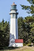 picture of lighthouse  - Grays Harbor Lighthouse in Washington State - JPG