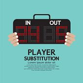 pic of substitutes  - Player Substitution Football  - JPG