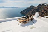 pic of greek-architecture  - White architecture on Santorini island Greece - JPG