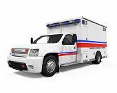 image of ambulance car  - Ambulance Car isolated on white background - JPG