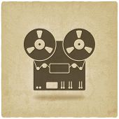 foto of magnetic tape  - tape recorder old background  - JPG