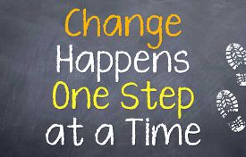 foto of motivation  - Motivational saying that you need to take small steps to make changes in your life - JPG