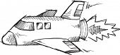pic of outer  - Doodle Sketch Rocket Outer space Vector  - JPG