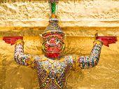 picture of garuda  - Garuda in Kangkok Thailand in a sunny day - JPG