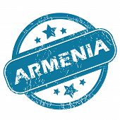foto of armenia  - Round rubber stamp with word ARMENIA and stars - JPG