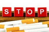 stock photo of smoking  - Quit Smoking Concept - JPG
