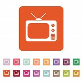 stock photo of tv sets  - The tv icon - JPG