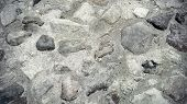 picture of paving  - Close up of road surface paved with rough stones - JPG