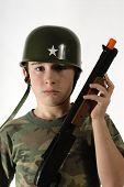 Young Boy Toy Gun poster