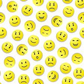 image of smiley face  - Vector realistic smiley face - JPG