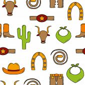 picture of bull-riding  - Seamless hand drawn rodeo background for your design - JPG