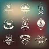 picture of duck-hunting  - Set of camping and hunting logo - JPG