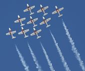 stock photo of snowbird  - Canadian Snowbirds at the Reno Stead Air Races