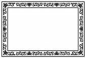 stock photo of exposition  - beautiful silhouette floral border corner pattern frame for text image and exposition decor vector style - JPG