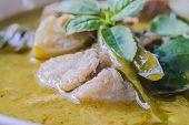pic of thai cuisine  - green curry with pork thai cuisine delicious food - JPG