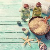 picture of sea salt  - Spa or wellness setting - JPG