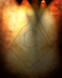 image of freemasons  - Old paper texture with freemason symbol on it - JPG