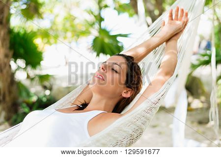 Relax And Napping On Hammock