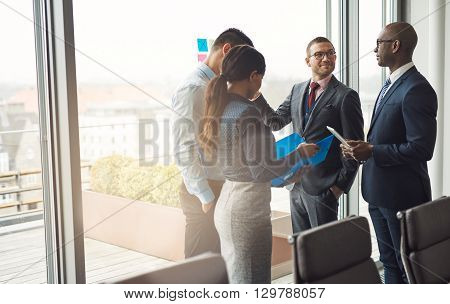 Multiethnic Business Team Having A Discussion