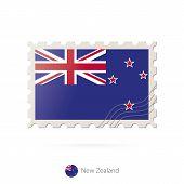 Постер, плакат: Postage Stamp With The Image Of New Zealand Flag