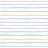 Seamless striped pattern. Handdrawn design with ink brush stroke. Pink, blue, green and violet strip poster