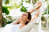 Relax And Napping On Hammock poster