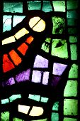 foto of stained glass  - Multicolored stained glass window may be used as background - JPG