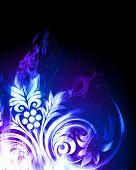 image of beautiful flower  - Blue fiery flower - JPG