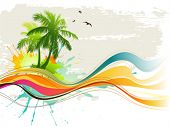 picture of summer beach  - Summer background - JPG