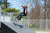 Skateboarder On A Skate Ramp