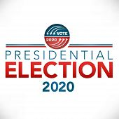 Election Header Banner With Vote With Presidential Election 2020 poster