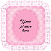 picture of eyeleteer  - Square white eyelet lace picture frame - JPG