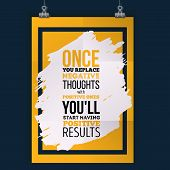 Inspirational Motivational Quote About Results. Vector Simple Design. Poster For Wall. poster