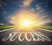 Road Of The Success. The Right Way For New Business Opportunities poster