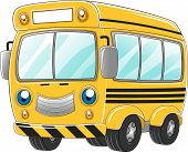 Illustration of a Happy School Bus