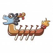 Dragon Boat Icon. Cartoon Illustration Of Dragon Boat Vector Icon For Web poster