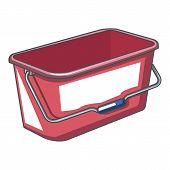 Domestic Bucket Icon. Cartoon Illustration Of Domestic Bucket Vector Icon For Web poster