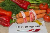 Concept Of Weight Loss. Healthy Lifestyle Diet With Fresh Fruits. Diet Concept, Fruit Dieting poster