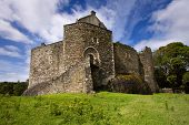stock photo of bute  - Dunstaffnage Castle on the north west coast of Scotland near Oban in Argyll and Bute - JPG