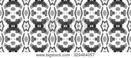 poster of Greyscale Watercolor Vibrant Design. Paintbrush Geo Background. Fun Bauhaus Geometric Pattern Fun Re