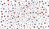 Festive Colorful Background. Usa Celebration Confetti Stars In National Colors For Veterans Day, Pre poster