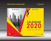 Cover Desk Calendar 2020 Template, Cover Design, Flyer Template, Ads, Booklet, Catalog, Newsletter,  poster