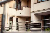 Stainless Steel Metal Railings Outdoor Modern Buildings poster