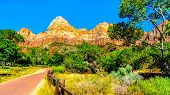 The Court Of The Patriarchs, Abraham Peak, Isaac Peak And Jacob Peak, In Zion National Park In Utah, poster
