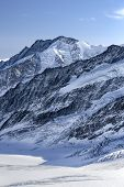 Beautiful Mountain View From Jungfraujoch, Switzerland poster