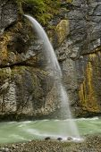 Beautiful Waterfall In The Aare Canyon, Switzerland poster