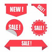 Sale Sticker Store Product Labels, Sale Labels Or Posters. A Special Collection Of Tags, A Set Of Ba poster