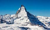 Zermatt Matterhorn View Mountain Winter Landscape Swiss Ales poster