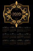 Calender 2020 poster